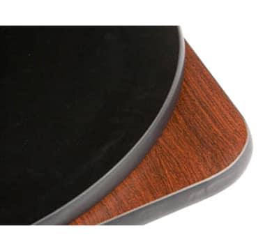 "Oak Street COMBM48R-STD 48"" Round Pedestal Table - Dining Height, Reversible Mahogany/Black Surface"