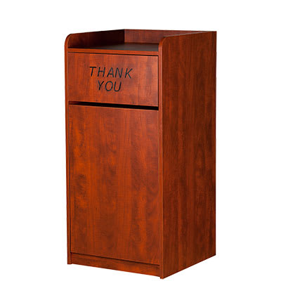 Oak Street M8520-CHERRY 25-gal Indoor Decorative Trash Can - Plastic, Cherry