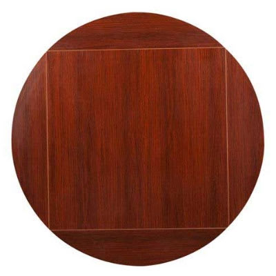 "Oak Street MB4242FLIP60-M 42"" Square To 60"" Round Flip Table Top, Mahogany"