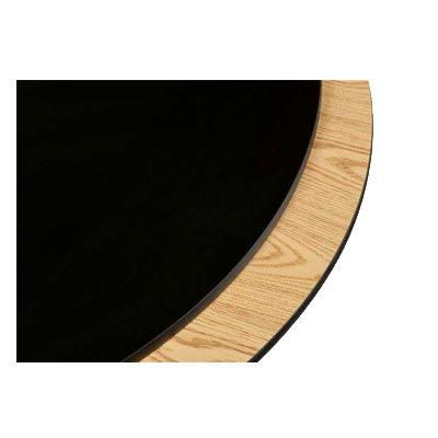 "Oak Street OB60R 60"" Round Reversible Table Top w/ T-Mold Edge, Oak & Black"