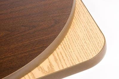 "Oak Street OW2430 Rectangular Reversible Table Top, Melamine Surface, 24 x 30 x 1"", Oak/Walnut"