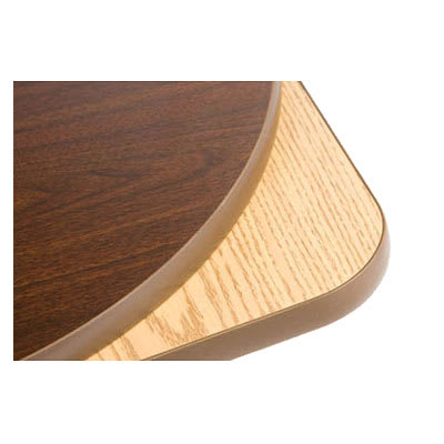 "Oak Street OW48R 48"" Round Reversible Table Top w/ T-Mold Edge, Oak & Walnut"