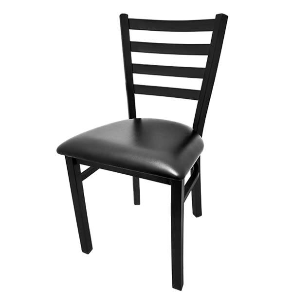 Oak Street SL1160 Economy Dining Chair w/ Metal Ladder Back & Welded Steel Tubing