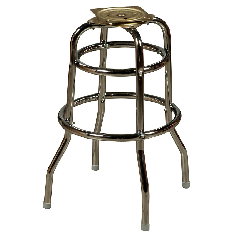 Terrific Oak Street Sl2129 Bottom Replacement Bar Stool Frame W Double Ring Base Chrome Creativecarmelina Interior Chair Design Creativecarmelinacom