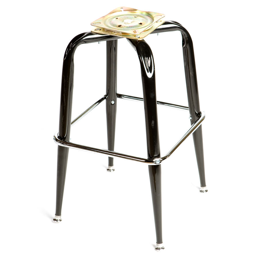 Awesome Oak Street Sl2133 Bottom Replacement Bar Stool Frame W Single Chrome Ring Base Black Creativecarmelina Interior Chair Design Creativecarmelinacom