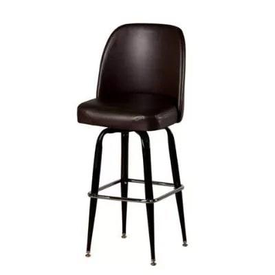 Oak Street Sl2133 Esp Swivel Bar Stool W Square Chrome Ring Espresso Bucket Seat