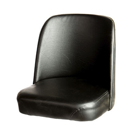 Oak Street SL2133TOP-BLK Replacement Bar Stool Bucket Seat, Black Vinyl