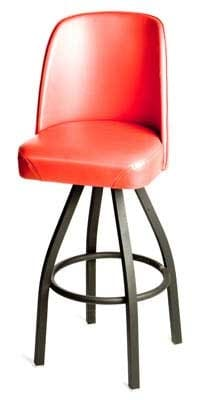 Oak Street Sl2136 Red Swivel Bar Stool W Single Ring