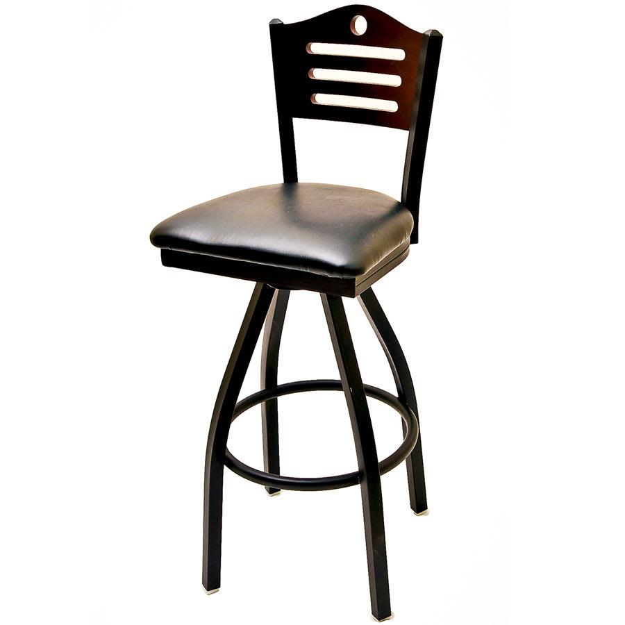 Pleasant Oak Street Sl2150 1S Sh Swivel Bar Stool W Shoreline Solid Birch Back Black Frame Lamtechconsult Wood Chair Design Ideas Lamtechconsultcom