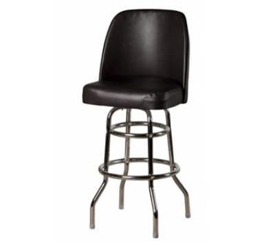 Oak Street SL3134-BLK Swivel Bar Stool w/ Double Ring & Black Vinyl Foam Bucket Seat