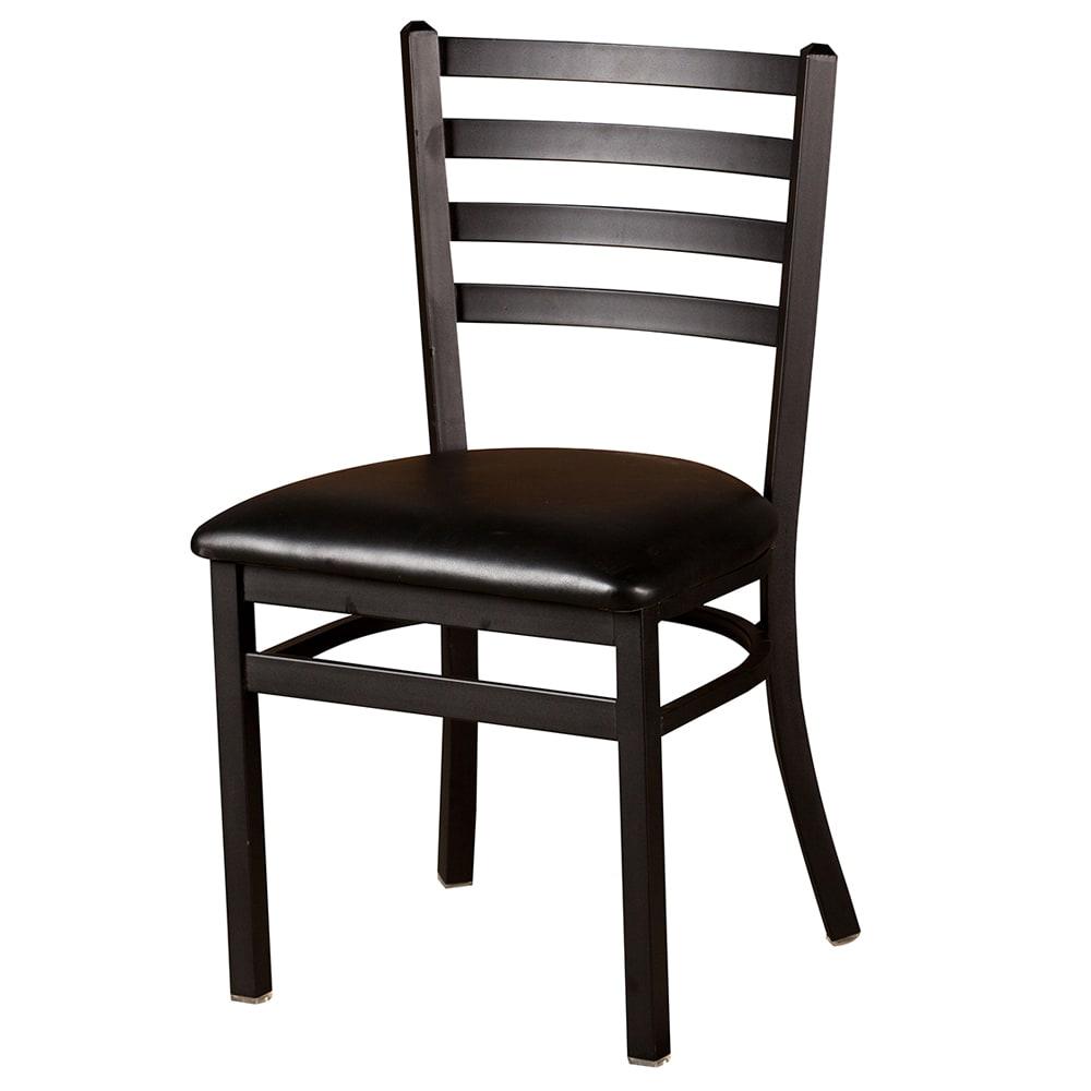 Oak Street SL3160 Extra Large Dining Chair w/ Metal Ladder Back & Black Powder Frame