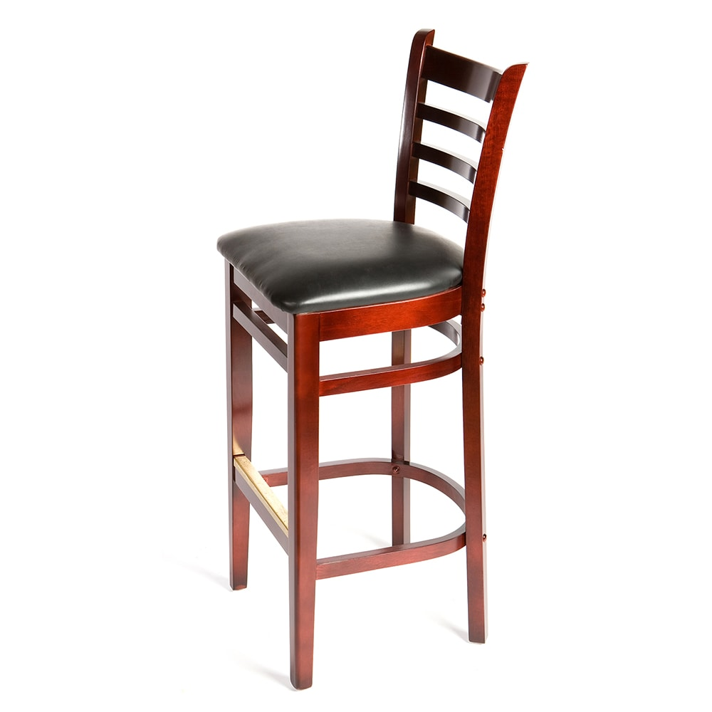 Fabulous Oak Street Wb101Mh Ladder Back Bar Stool W Vinyl Seat Beechwood Frame Mahogany Finish Gmtry Best Dining Table And Chair Ideas Images Gmtryco