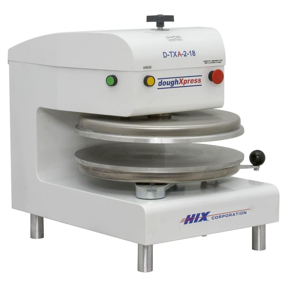 DoughXpress D-TXA-2-18-WH Automatic Tortilla Pizza Dough Press w/ Uncoated Platens, 220 V