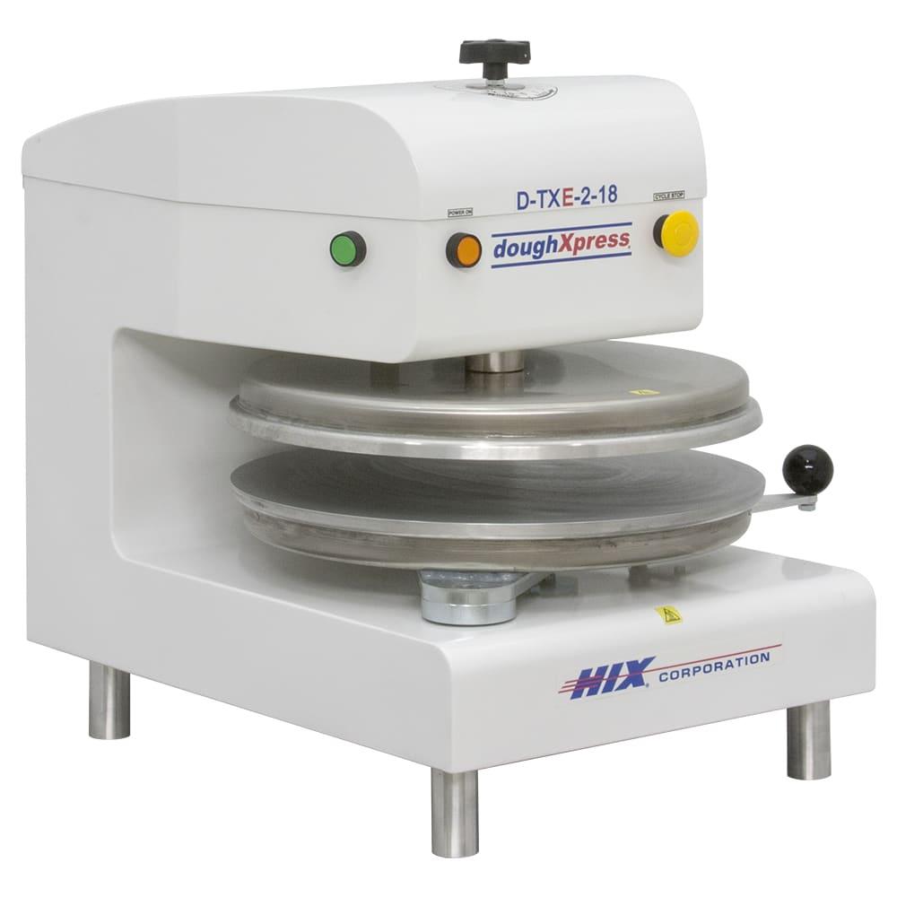 DoughXpress D-TXE-2-18-WH Electro-Mechanical Automatic Tortilla Pizza Dough Press, 220 V