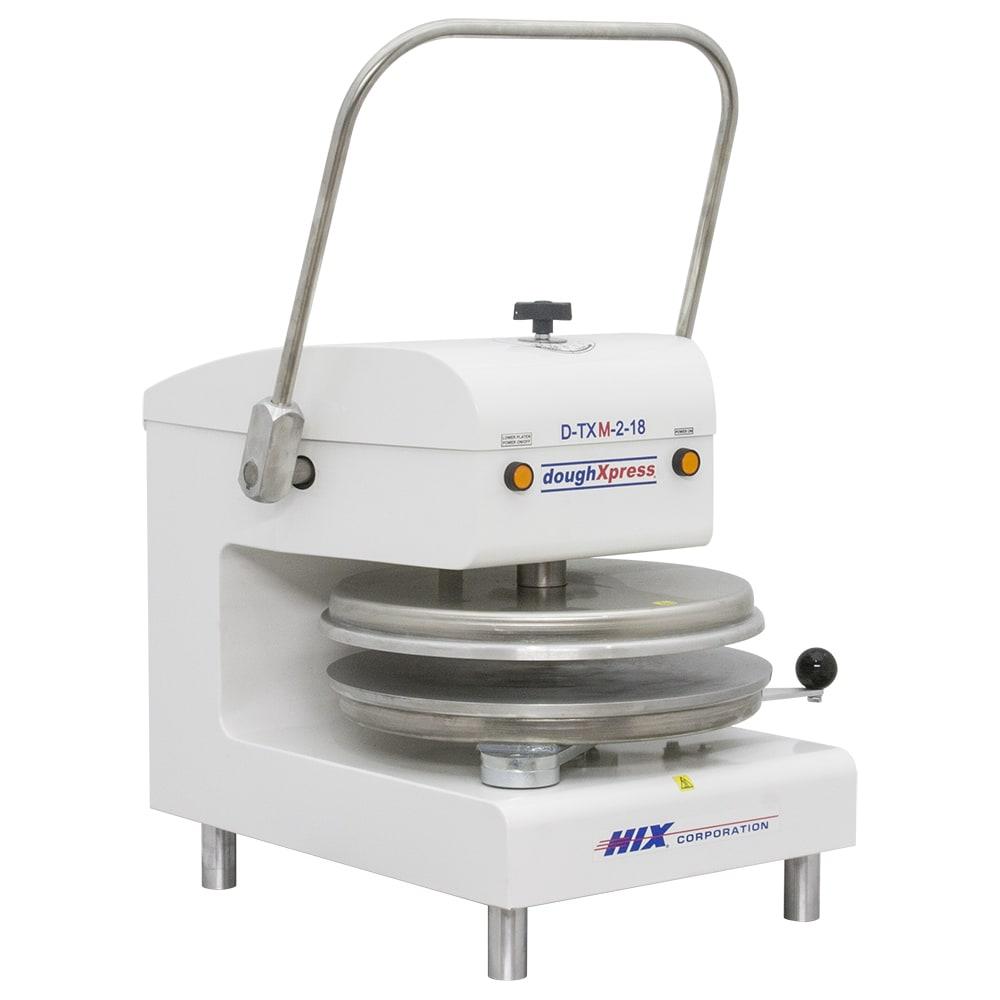 DoughXpress D-TXM-2-18-WH Manual Tortilla Pizza Dough Press w/ Pull Down Handle, 220 V