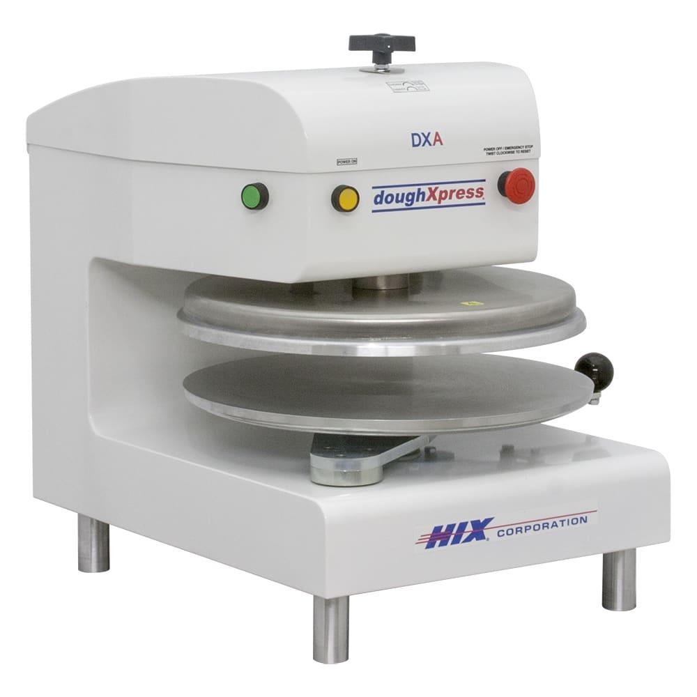 DoughXpress DXA-WH 120 Air Automatic Pizza Dough Press w/ Uncoated Aluminum Platens, 120 V