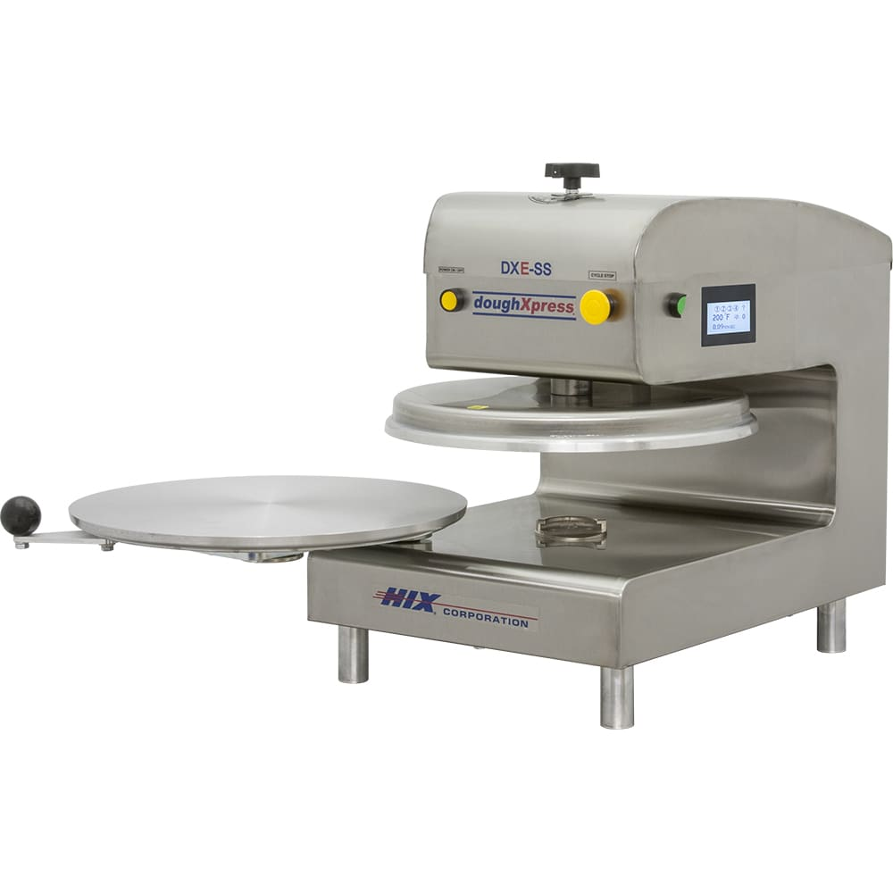 DoughXpress DXE-SS Automatic Pizza Dough Press, Electro-Mechanical, Stainless, 120 V