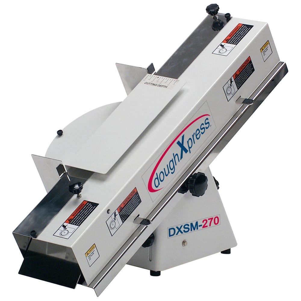 DoughXpress DXSM-270E Adjustable French Bread & Bagel Slicer For Full & Hinge Cut, 220-240
