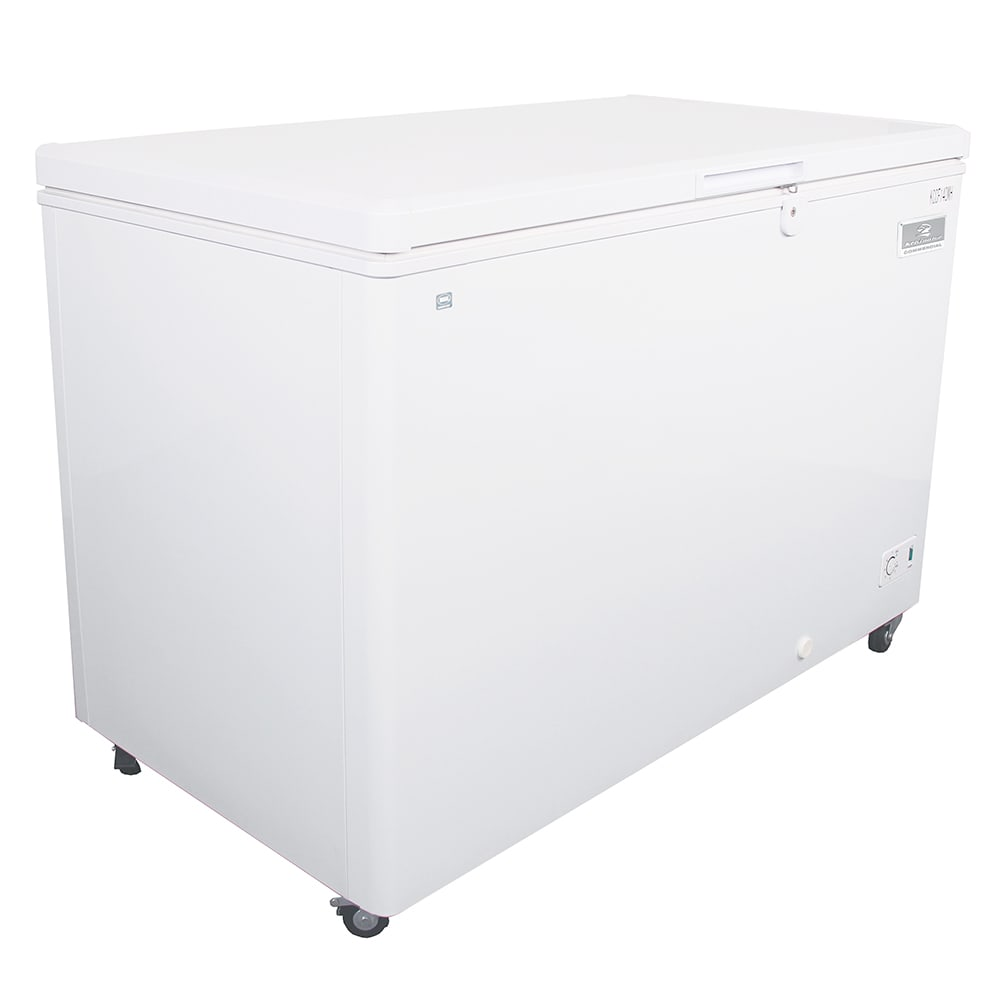 "Kelvinator KCCF140WH 51.75"" Mobile Chest Freezer w/ Wire Storage Basket - White, 115v"