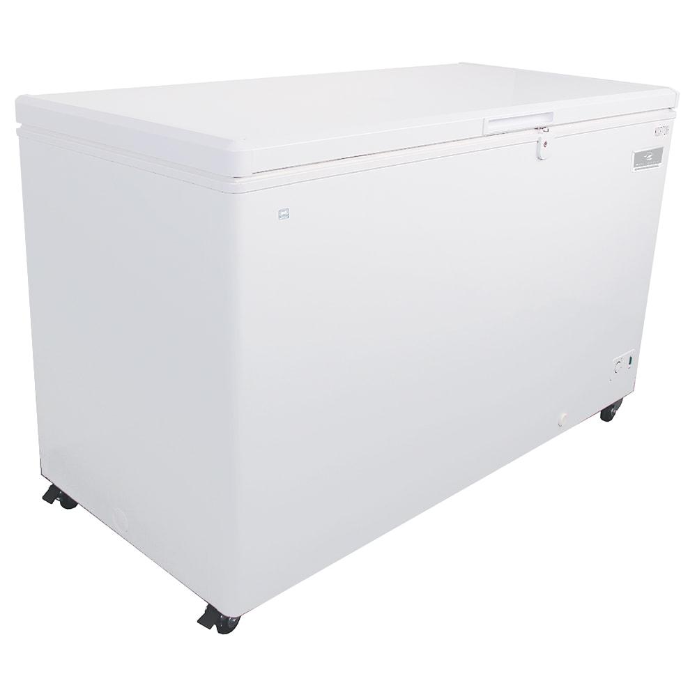 "Kelvinator KCCF170WH 59.5"" Mobile Chest Freezer w/ Wire Storage Basket - White, 115v"