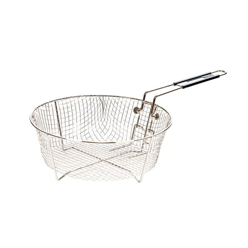 "Lodge 12FB2 11"" Round Fryer Basket, Nickle Plated"