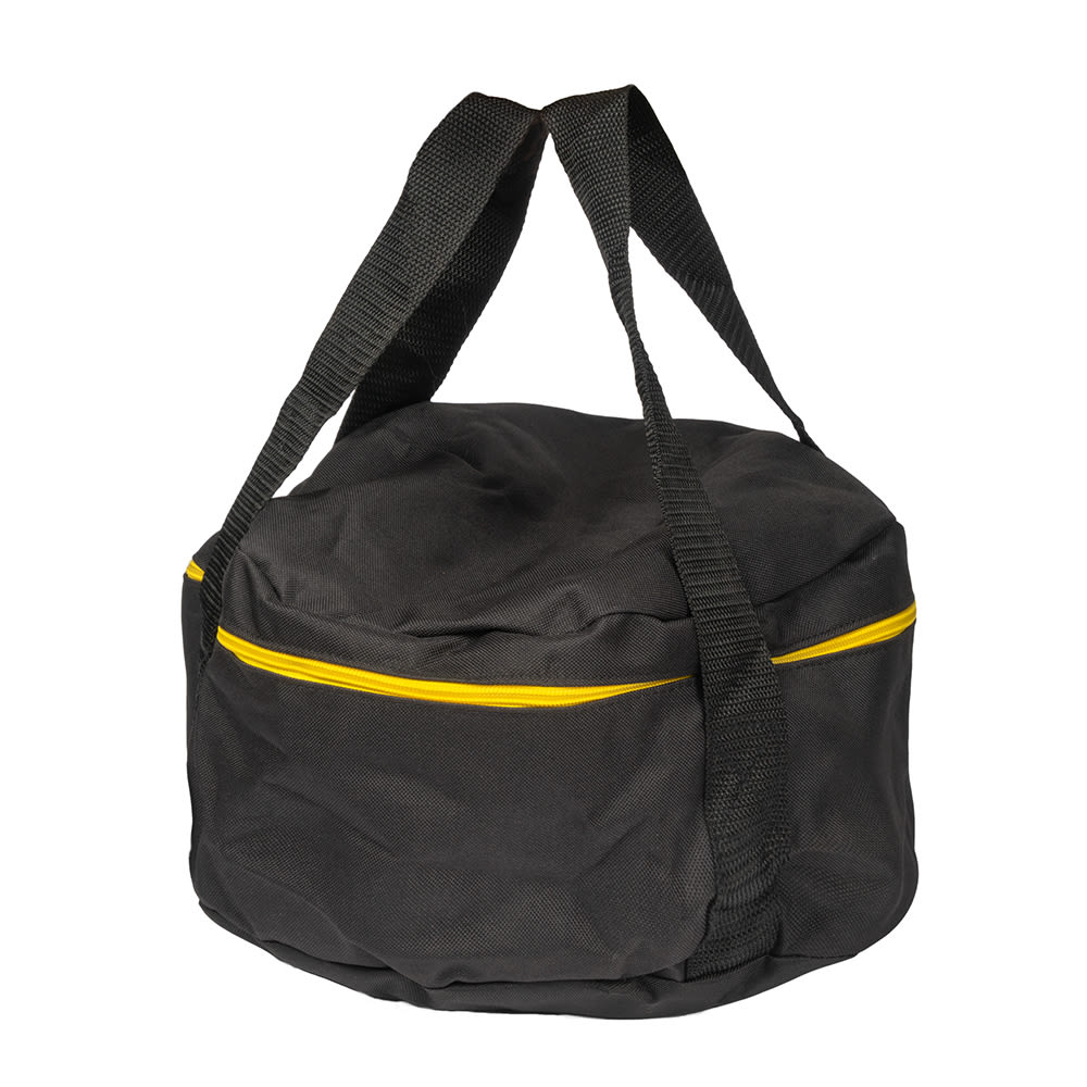 """Lodge A1-10 10"""" Camp Dutch Oven Tote Bag w/ Double-Padded Bottom, Black Polyester"""