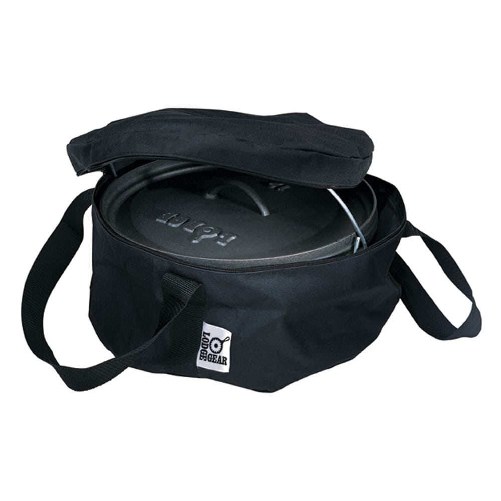 """Lodge A1-8 8"""" Camp Dutch Oven Tote Bag w/ Double-Padded Bottom, Black Polyester"""