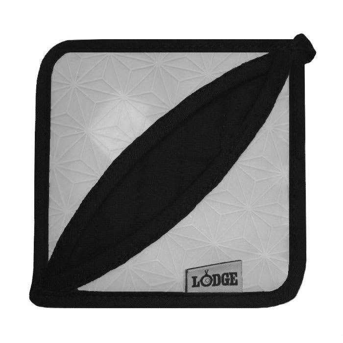 """Lodge ASFPH05 6.5"""" Square Pot Holder - Silicone, Gray"""