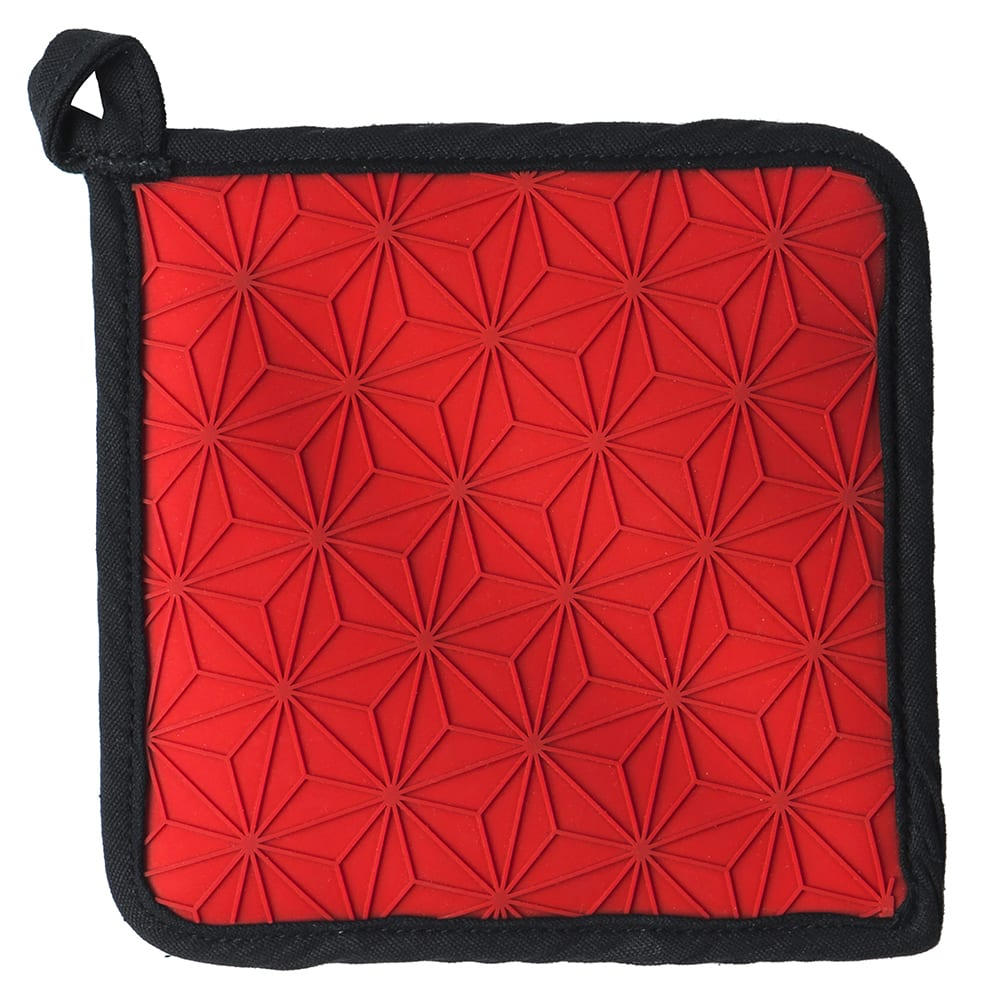 "Lodge ASFPH41 6.5"" Square Pot Holder - Silicone, Red"