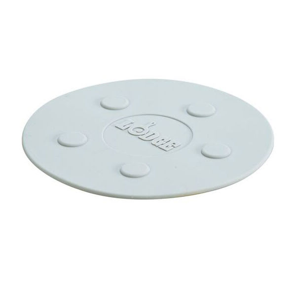 """Lodge ASLMT05 8"""" Round Magnetic Trivet - Silicone, Gray"""