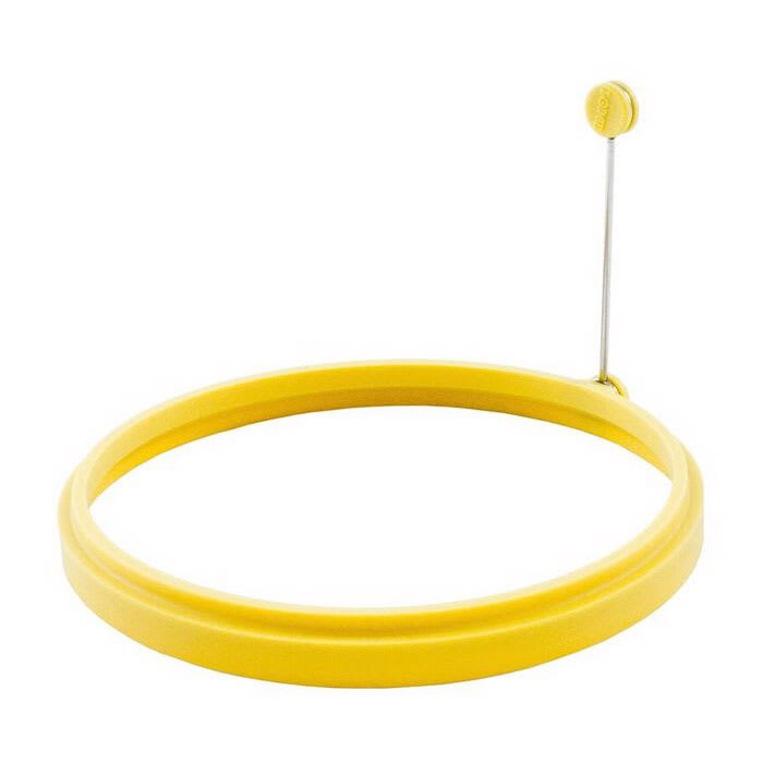 "Lodge ASOR 8"" Omelet Ring w/ Folding Handle - Silicone, Yellow"
