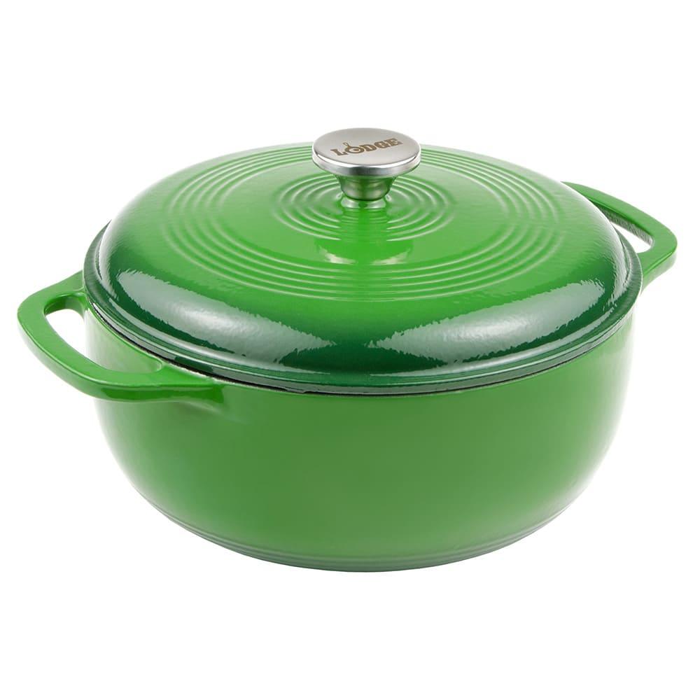 Lodge EC6D53 6-qt Cast Iron Dutch Oven, Enamel, Emerald
