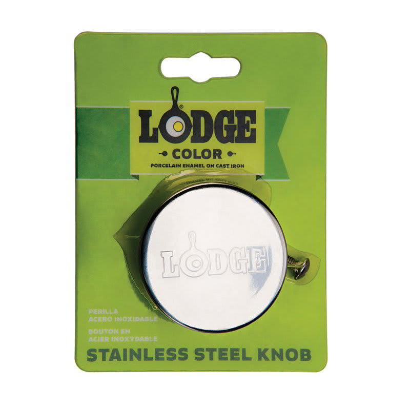 """Lodge ECSSK 2"""" Stainless Knob for Enamel Cover, Oven Safe to 450-Degree F"""
