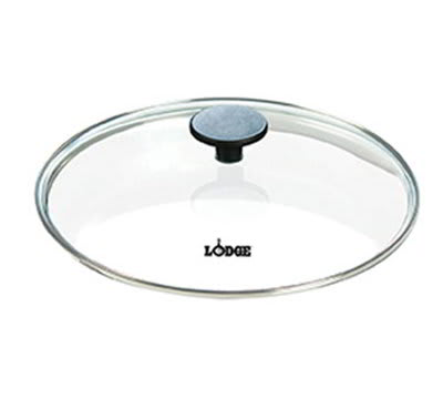 "Lodge GC10 10.25"" Round Lid w/ Tempered Glass & Phenolic Knob"