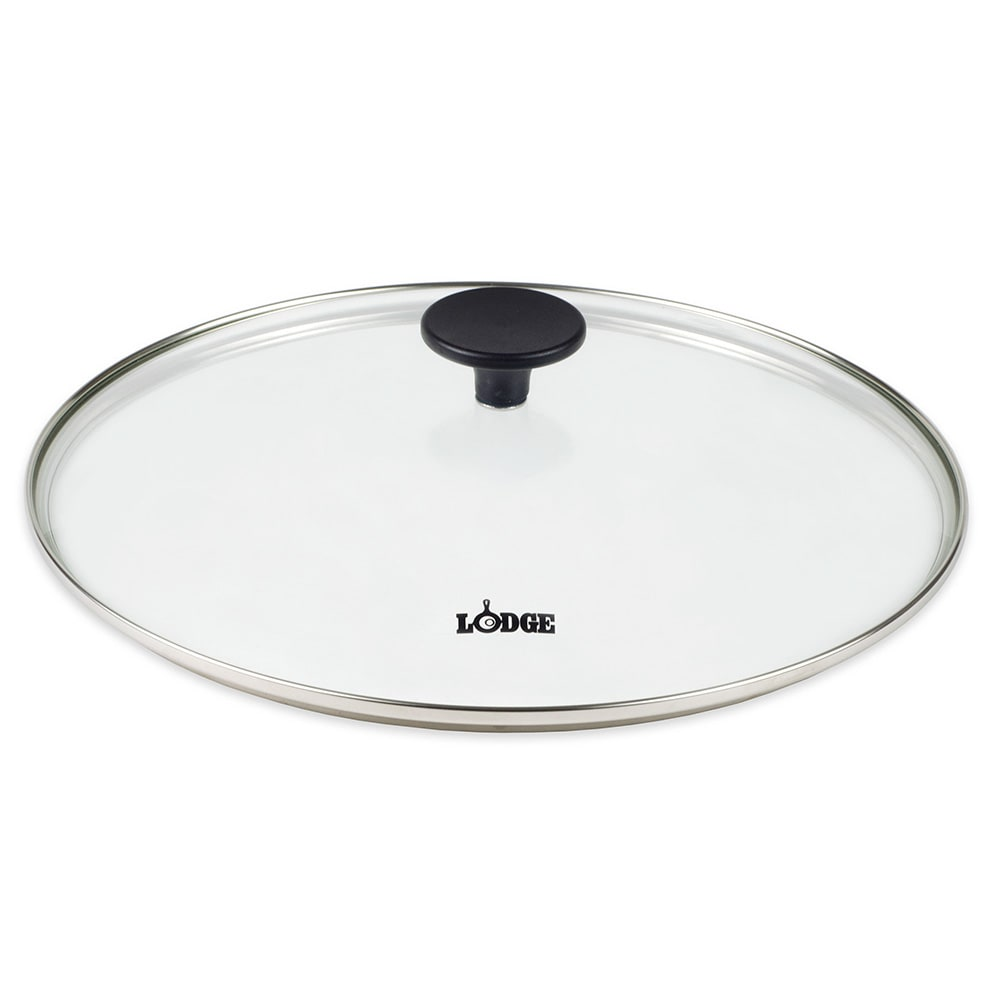 "Lodge GC12 12"" Round Lid w/ Tempered Glass & Phenolic Knob"