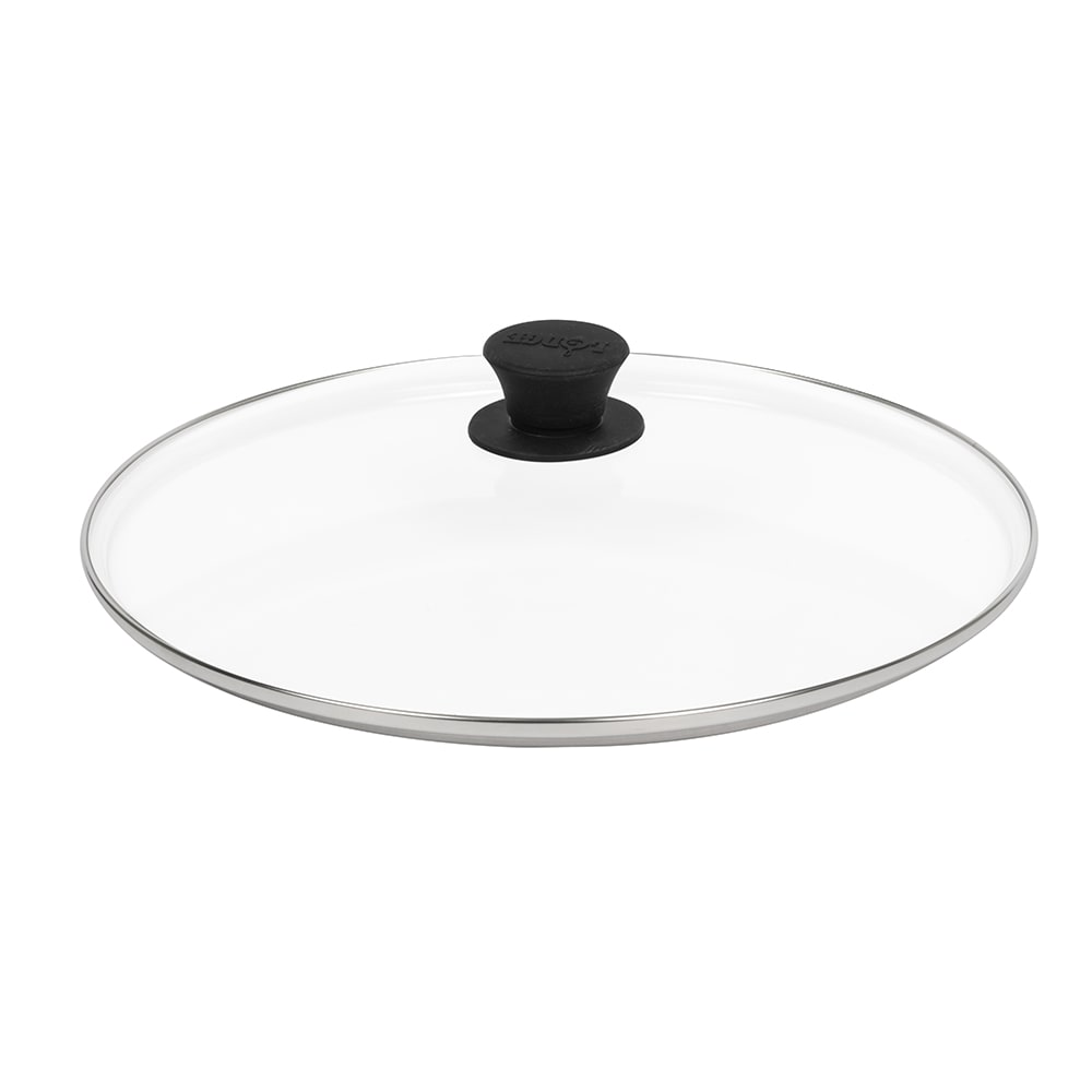 "Lodge GL15 15"" Round Lid w/ Tempered Glass & Phenolic Knob"