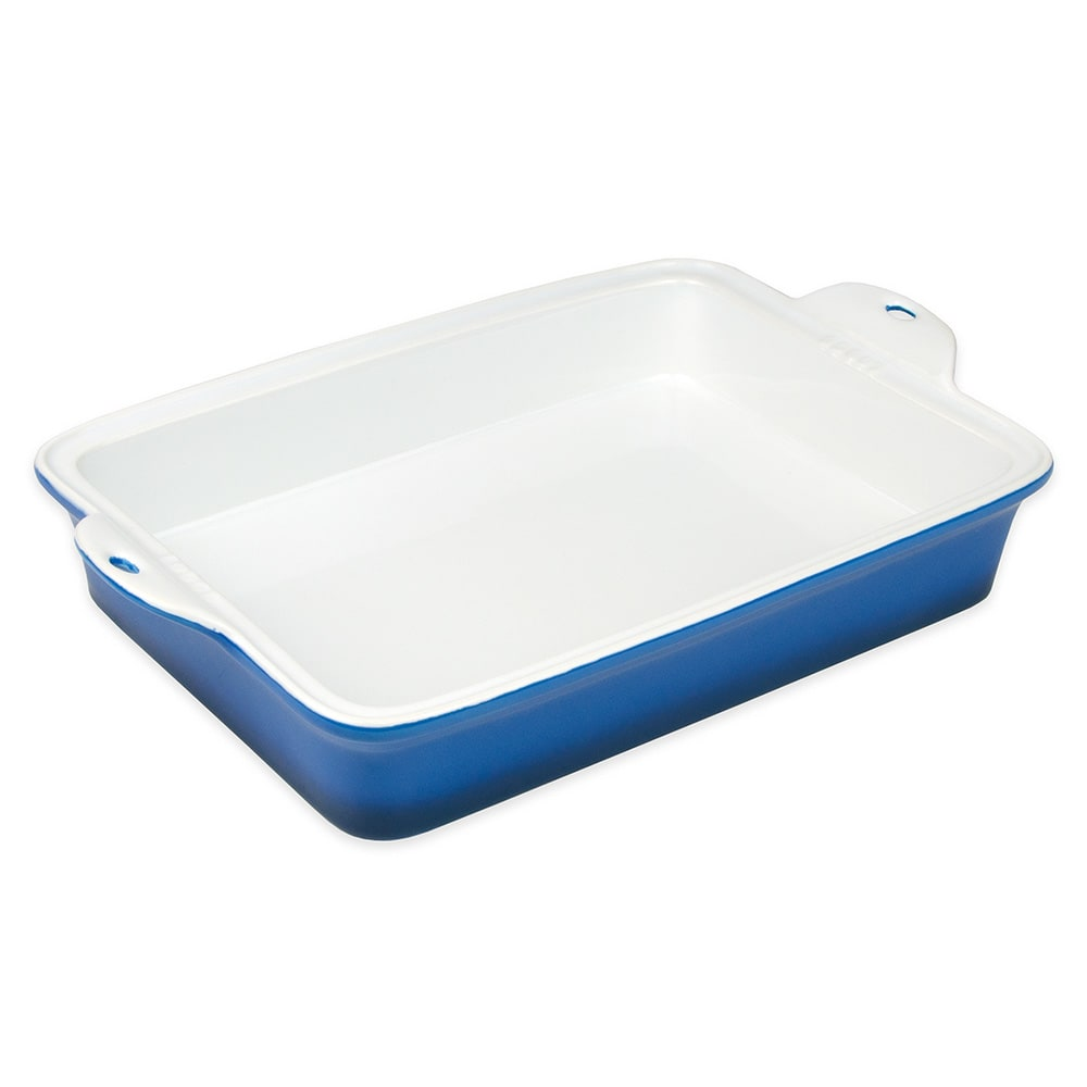 "Lodge STW13RCT33 Rectangular Baking Dish - 9"" x 13"", Stoneware, Blue"