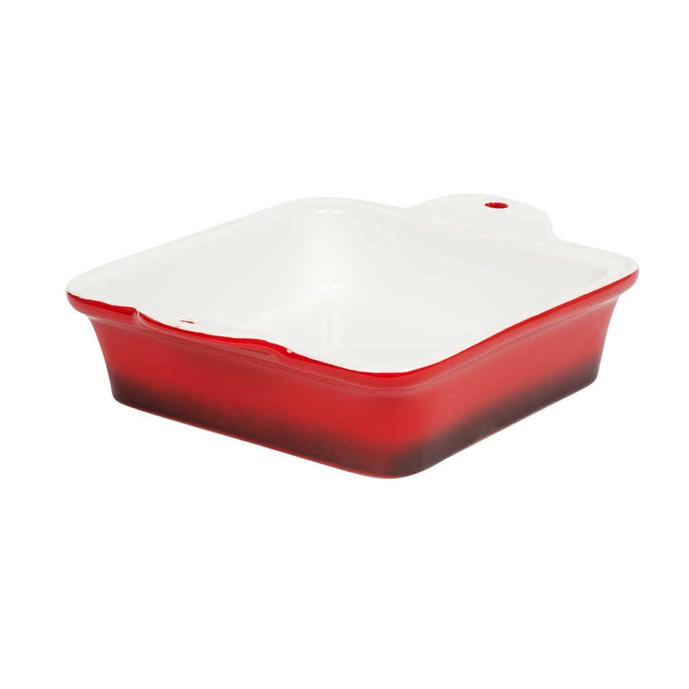"Lodge STW8SQ43 Square Baking Dish - 8"" x 8"", Stoneware, Red"
