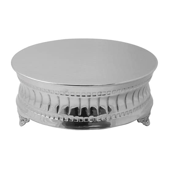 "Walco AC9122 14"" Round Contemporary Cake Stand - Aluminum, Nickel-Plated"