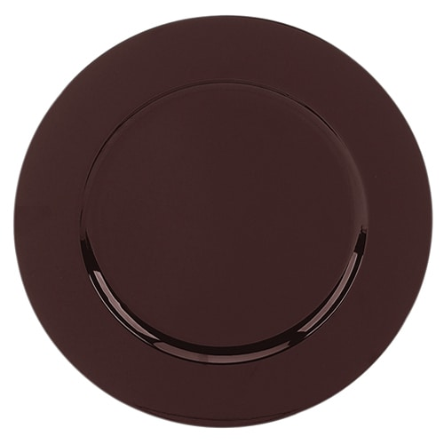 "Walco TRBR6651 13"" Round Charger Plate - Polypropylene, Brown"