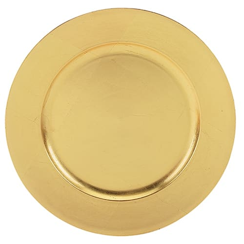 """Walco TRG6651 13"""" Round Charger Plate - Polypropylene, Gold"""