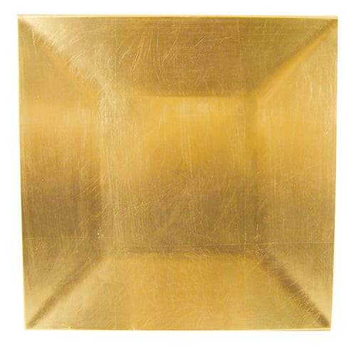 """Walco TRG6670 13"""" Square Charger Plate - Polypropylene, Gold"""