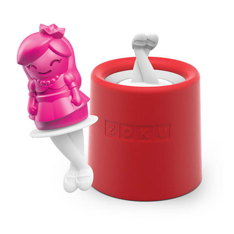 Zoku 015 Princess Pop Maker - 1 Mold & 1 Stick w/ Drip Guard