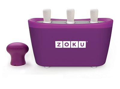 Zoku ZK101 PU Quick Pop Maker w/ 6-Sticks & 6-Drip Guards, Super Tool, Purple