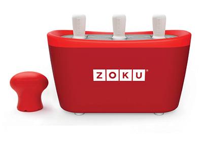 Zoku ZK101 RD Quick Pop Maker w/ 6-Sticks & 6-Drip Guards, Super Tool, Red