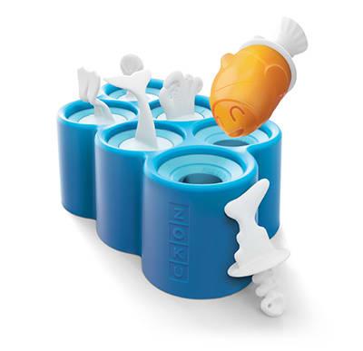 Zoku ZK119 Fish Pop Molds 6 Sticks w/ Drip Guards