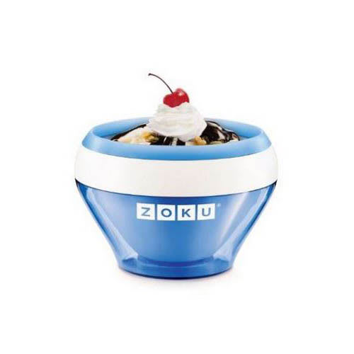 Zoku ZK120BL 5-oz Ice Cream Maker Bowl w/ Spoon, Blue