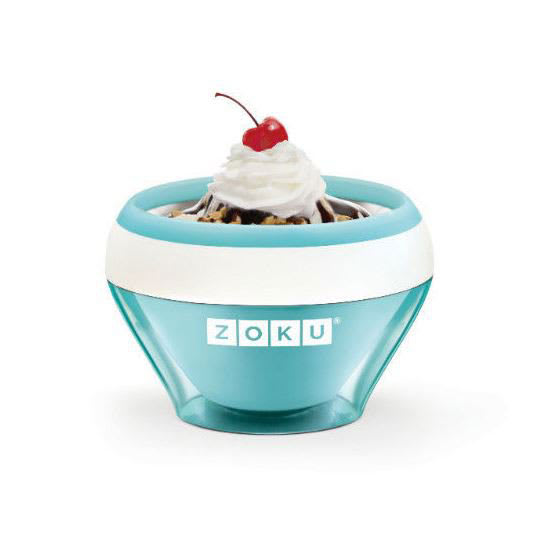 Zoku ZK120LB 5-oz Ice Cream Maker Bowl w/ Spoon, Teal
