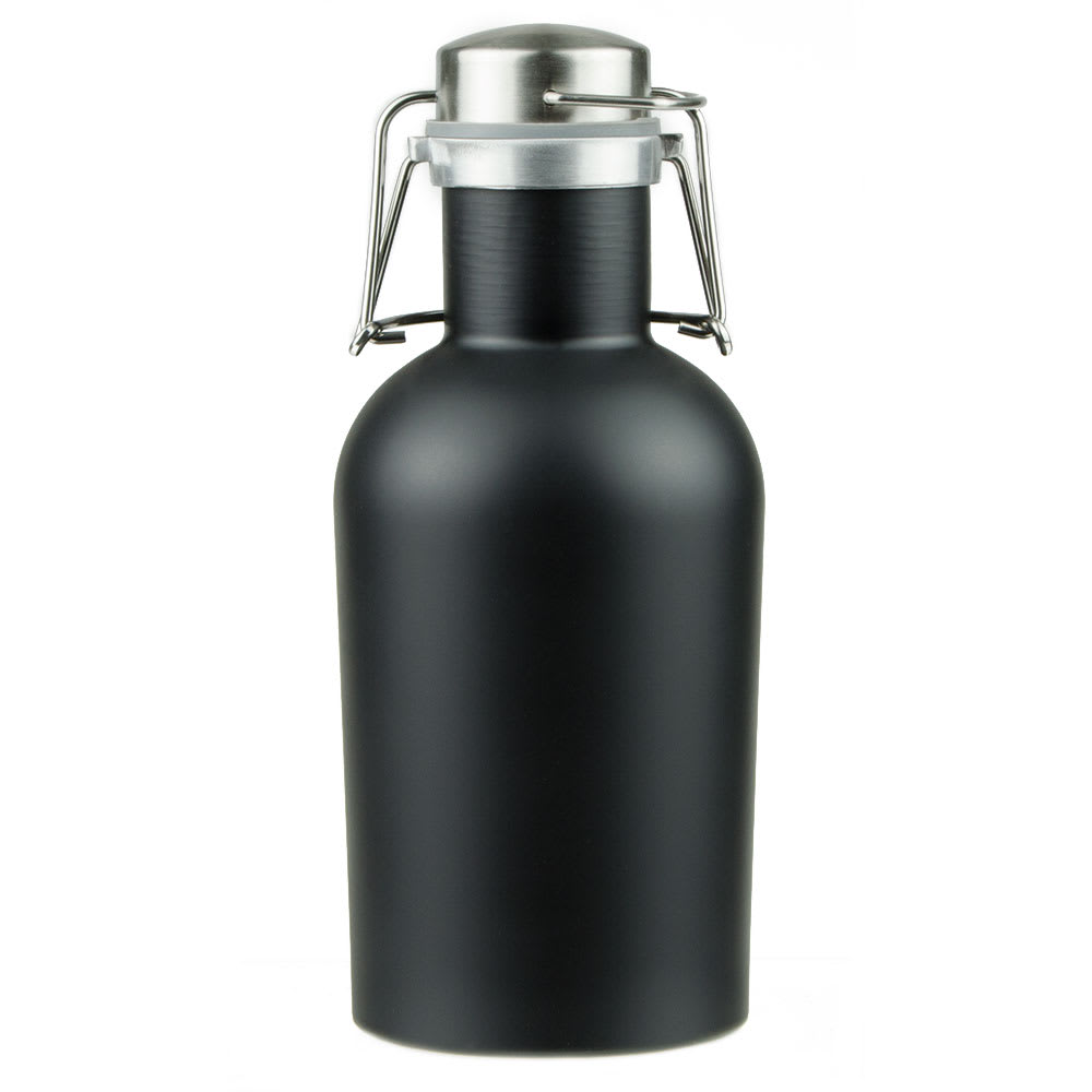 Co-Rect Products G-32-BLK 32-oz Howler w/ Wire Flip Lid - Stainless Steel, Matte Black