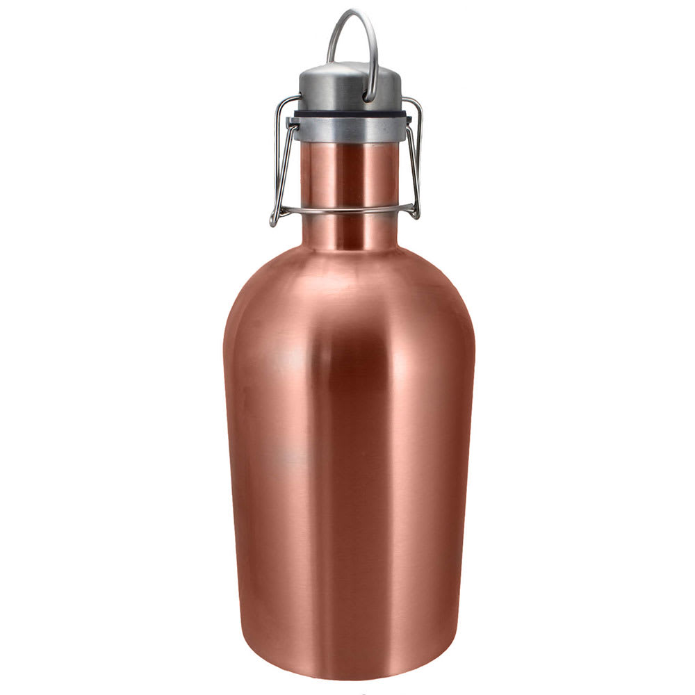 Co-Rect Products G-64-COP 64-oz Growler w/ Wire Flip Lid - Stainless Steel, Copper